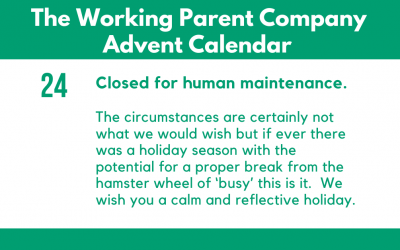 Advent Day Twenty-Four: Closed for Human Maintenance.