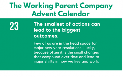 Advent Day Twenty-Three: The smallest of actions can lead to the biggest outcomes.